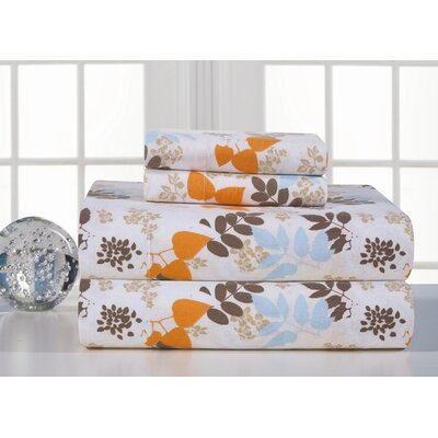 Heavy Weight Printed Flannel Sheet Set Size: Full