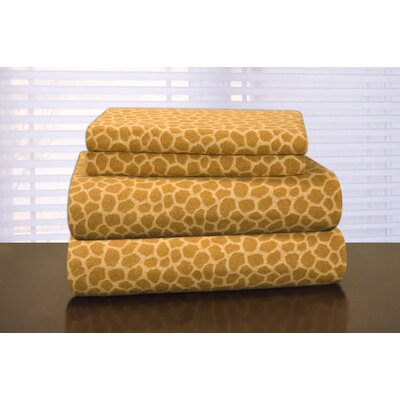 Heavy Weight Printed Flannel Sheet Set Size: California King