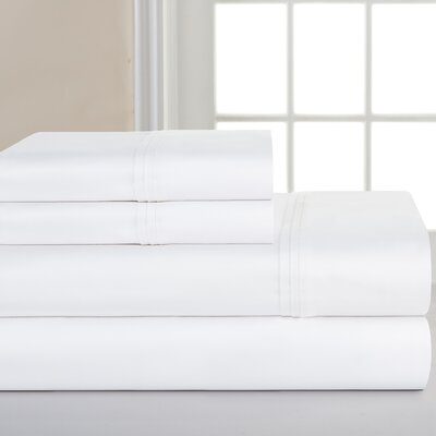 700 Thread Count Deep Pocket Pima Sheet Set Size: California King, Color: White
