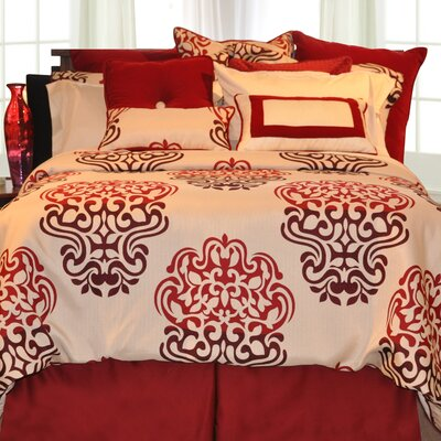 Cherry Blossom 4 Piece Bed-In-A-Bag Set Size: King