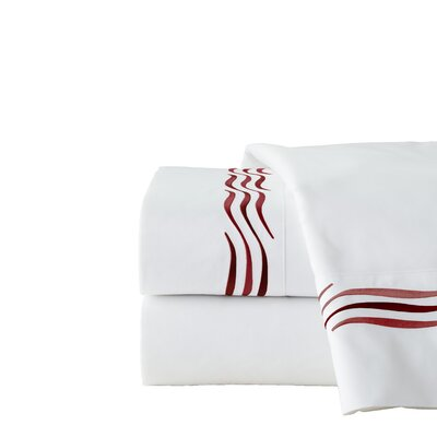 300 Thread Count 100% Cotton Sheet Set Size: Cal King, Color: Beet Red