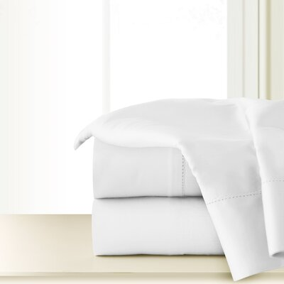 300 Thread Count Cotton Sheet Set Color: White, Size: Twin