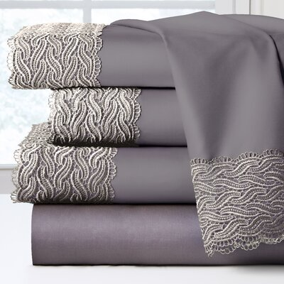 300 Thread Count 100% Cotton Sheet Set Size: Full, Color: Gray