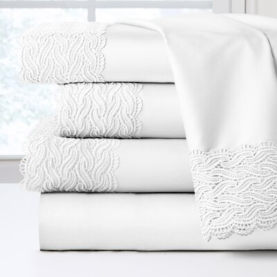 300 Thread Count 100% Cotton Sheet Set Size: Full, Color: White