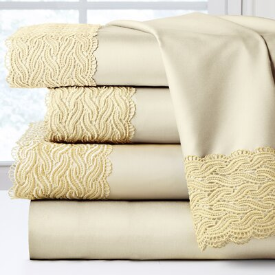 300 Thread Count 100% Cotton Sheet Set Color: Ecru, Size: Queen