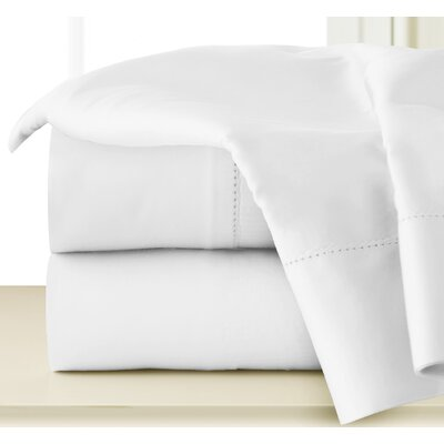 410 Thread Long Staple Count Cotton Sheet Set Size: King, Color: White