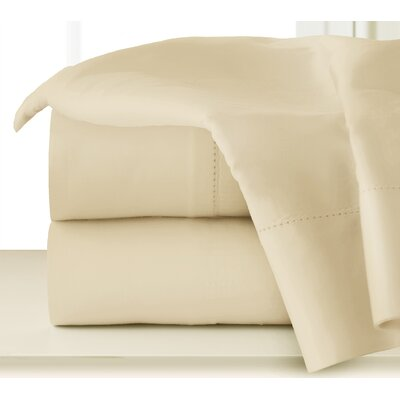 410 Thread Long Staple Count Cotton Sheet Set Color: Ecru, Size: Queen