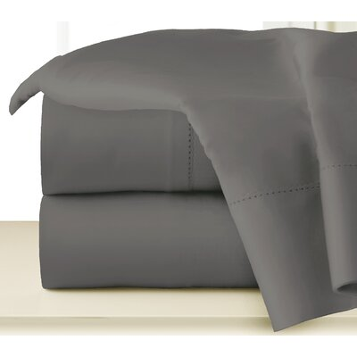 410 Thread Long Staple Count Cotton Sheet Set Color: Medium Gray, Size: Queen