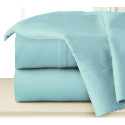 410 Thread Long Staple Count Cotton Sheet Set Color: Aqua, Size: Queen