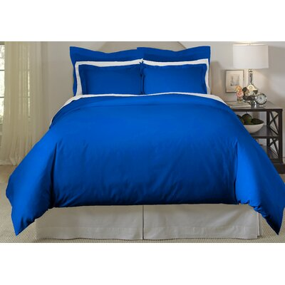 Long Staple 3 Piece Duvet Cover Set Color: Classic Blue, Size: King/Cal King