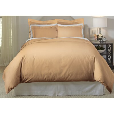 Long Staple 3 Piece Duvet Cover Set Color: Iced Coffee, Size: King/Cal King