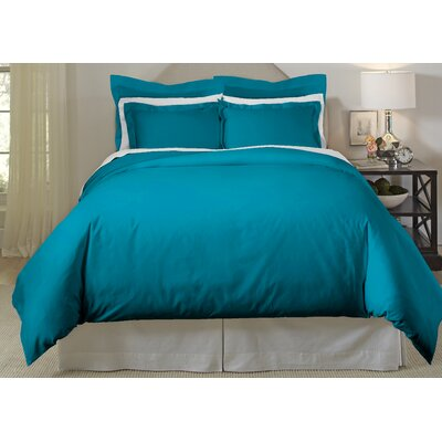 Long Staple 3 Piece Duvet Cover Set Color: Teal, Size: King/Cal King