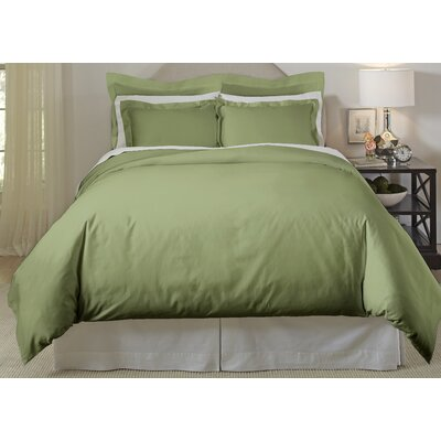 Long Staple 3 Piece Duvet Cover Set Color: Moss, Size: King/Cal King