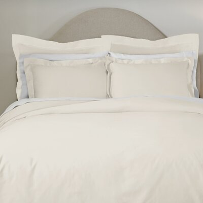620 Thread Count Long Staple Cotton Euro Sham Color: Bone