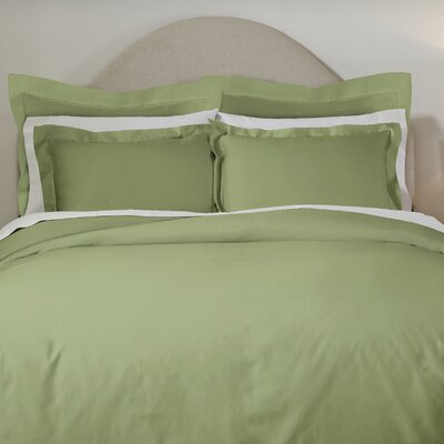 620 Thread Count Long Staple Cotton Euro Sham Color: Moss