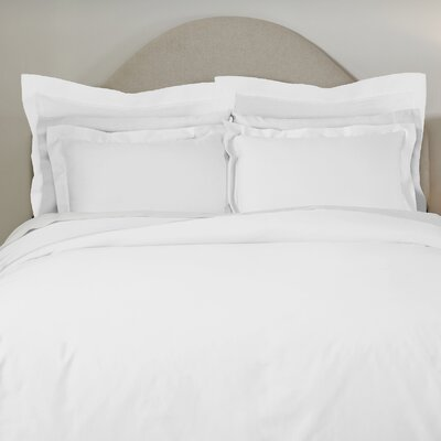 620 Thread Count Long Staple Cotton Euro Sham Color: White