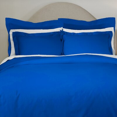 620 Thread Count Long Staple Cotton Euro Sham Color: Classic Blue