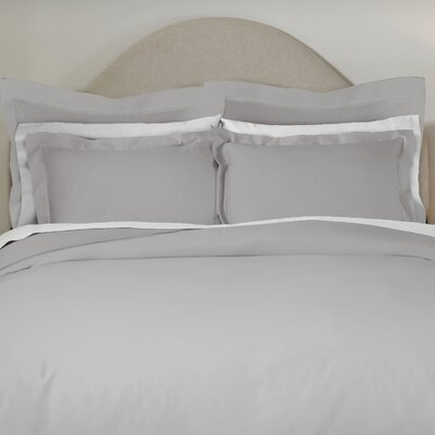 620 Thread Count Long Staple Cotton Euro Sham Color: Gray