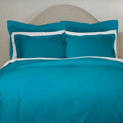 620 Thread Count Long Staple Cotton Euro Sham Color: Teal