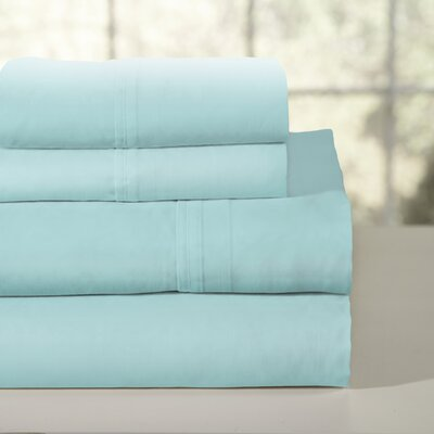 200 Thread Count 100% Soft Cotton Percale Sheet Set Color: Aqua, Size: King