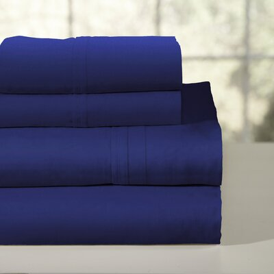 200 Thread Count 100% Soft Cotton Percale Sheet Set Color: Estate Blue, Size: Queen