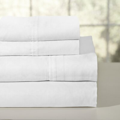 200 Thread Count 100% Soft Cotton Percale Sheet Set Color: White, Size: Full