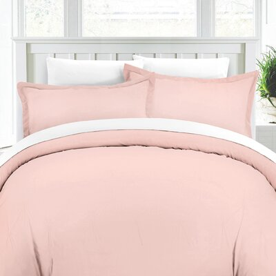 Duvet Cover Set Color: Rose, Size: King/Cali King