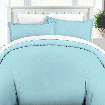 Duvet Cover Set Color: Aqua, Size: King/Cali King