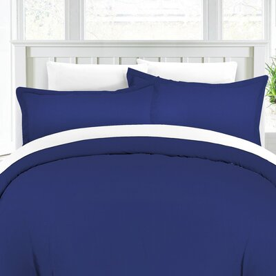 Duvet Cover Set Color: Estate Blue, Size: King/Cali King