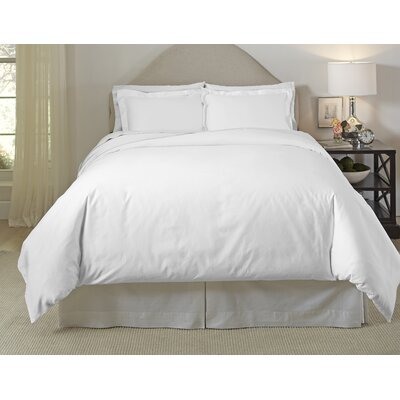 Long Staple Duvet Cover Set Color: White, Size: Twin/Twin XL