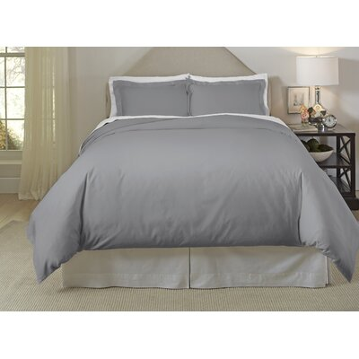 Long Staple Duvet Cover Set Color: Medium Gray, Size: Twin/Twin XL