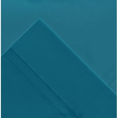 620 Thread Count Long Staple Cotton Pillow Case Size: King, Color: Teal