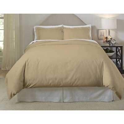 Long Staple Duvet Cover Set Size: Full/Queen, Color: Elm