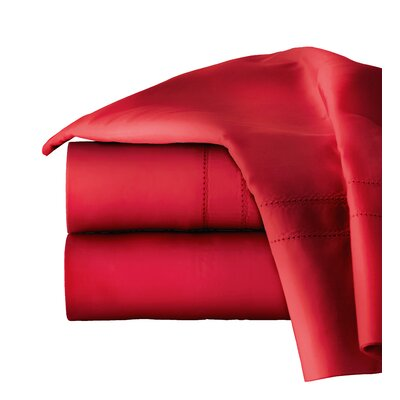 620 Thread Long Staple Count 100% Cotton Sheet Set Color: True Red, Size: King