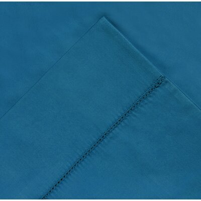 410 Thread Count Long Staple Pima Cotton Pillow Case Color: Brilliant Blue, Size: Standard