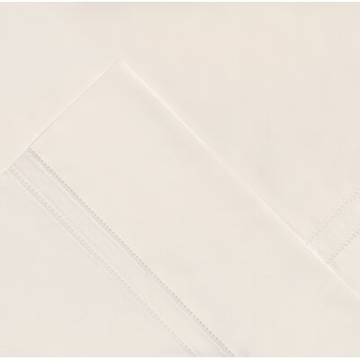 620 Thread Count Long Staple Cotton Pillow Case Size: King, Color: Bone