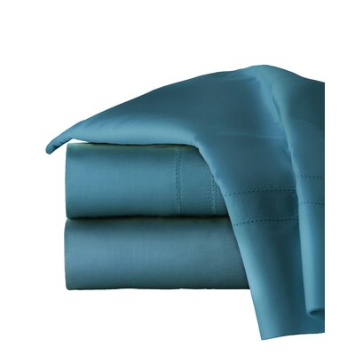 620 Thread Long Staple Count 100% Cotton Sheet Set Color: Teal, Size: Queen