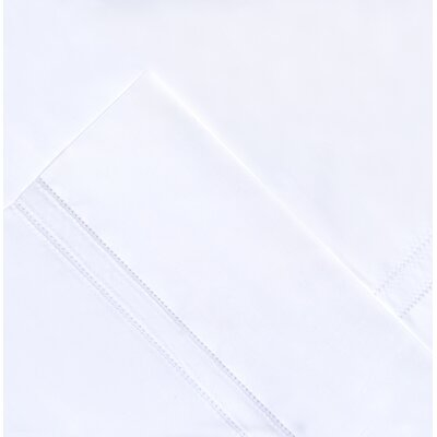 410 Thread Count Long Staple Pima Cotton Pillow Case Color: White, Size: Standard