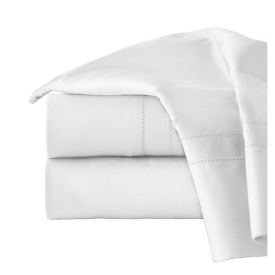 620 Thread Long Staple Count 100% Cotton Sheet Set Color: White, Size: Queen
