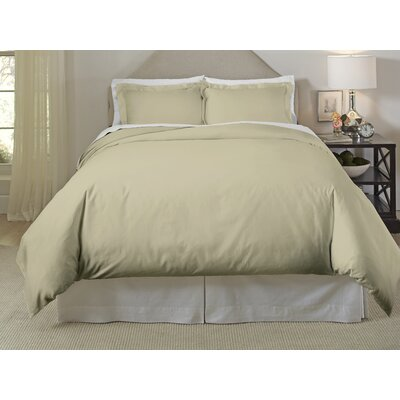 Long Staple Duvet Cover Set Color: Ecru, Size: Twin/Twin XL