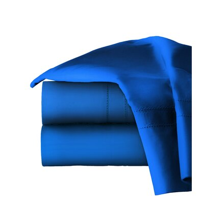 620 Thread Long Staple Count 100% Cotton Sheet Set Color: Classic Blue, Size: King