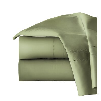 620 Thread Long Staple Count 100% Cotton Sheet Set Color: Moss, Size: Queen