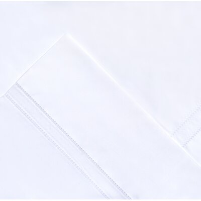 620 Thread Count Long Staple Cotton Pillow Case Size: King, Color: White