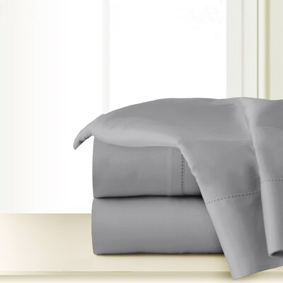 300 Thread Count Cotton Sheet Set Color: Gray, Size: Twin