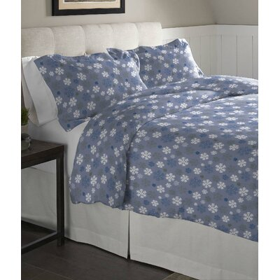 3 Piece Duvet Set Color: Light Blue, Size: Full/Queen