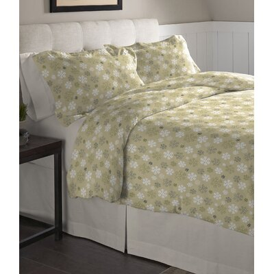 3 Piece Duvet Set Color: Light Green, Size: Twin/XL