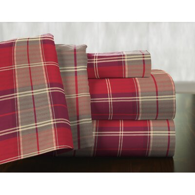 Piedmont 100% Cotton Flannel Sheet Set Size: Queen