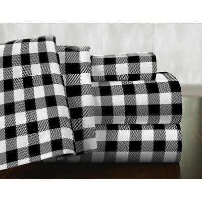 Milton 100% Cotton Flannel Sheet Set Size: King