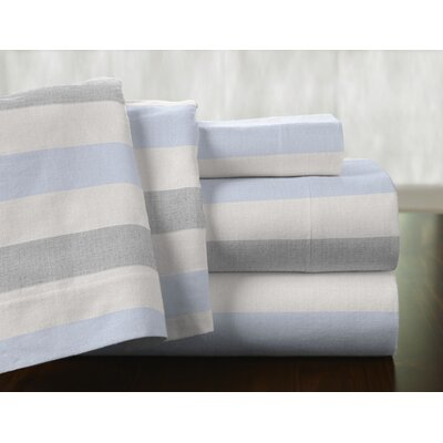 Savannah 100% Cotton Flannel Sheet Set Size: Queen