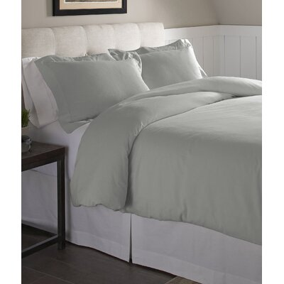Duvet Set Size: Full/Queen, Color: Heather Gray